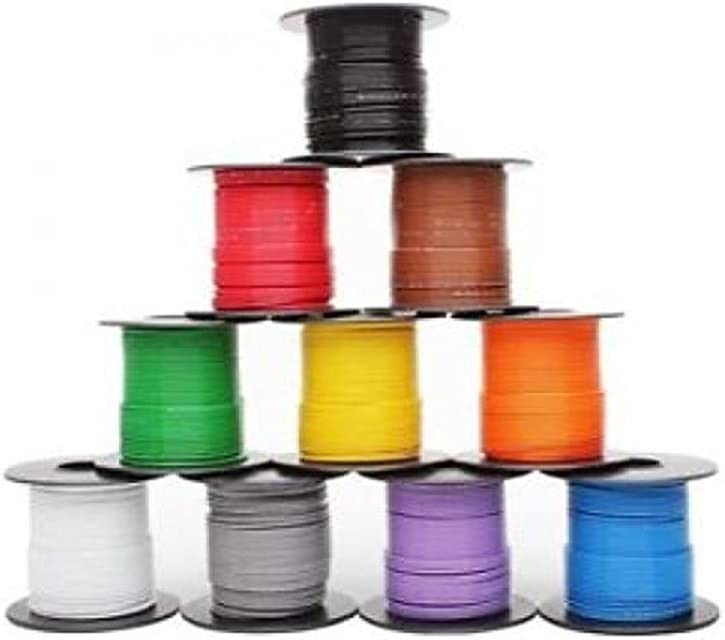 Los Angeles Mall 10 Colors 50ft Each Mil-Spec supreme high Gauge Temp Tefze Wire 22 Cable