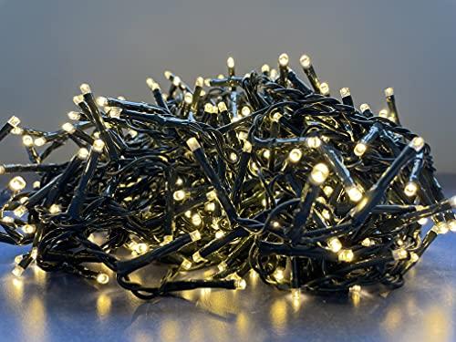 Serie Luci di Natale Micro LED Lucine uso Esterno ed Interno Catena Decorativa Luminosa Bianco Caldo e Ghiaccio (2000 LED, Bianco Caldo)