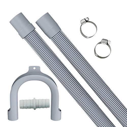 2 m verlängerung Ablaufschlauch, einziehbarer Ablaufschlauch, kann für das Verlängerungskit für Waschmaschine/Trockner/Geschirrspüler verwendet werden.