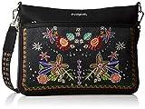 Desigual - Bag Candem Formigal Women, Bolsos bandolera Mujer, Negro, 2x23x30.5 cm (B x H T)