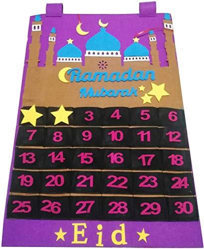 Calendario De Adviento 2021 DecoracióN De RamadáN, Calendario De RamadáN, Calendario De RamadáN 30 DíAs Eid Mubarak Tapiz Cuenta AtráS NiñOs Calendario De Eid Al-Fitr DecoracióN De RamadáN,