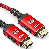 4K HDMI Kabel 2Meter - Snowkids Highspeed HDMI 2.0 des Rutschfesten Kabel 4K@60HZ