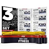 Bodybuilding Resistance Bands xheavy Set Black Fitness Band Red Pull up Band. Mobility Bands Set for Stretching Toning.