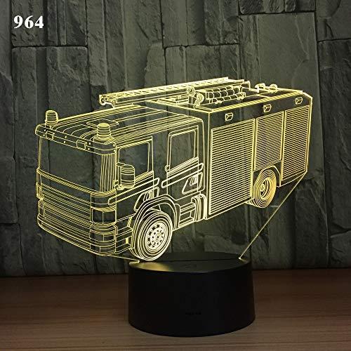 olwonow Camión grúa Coche de Bomberos Diseño de autobús Escolar Coches acrílicos...