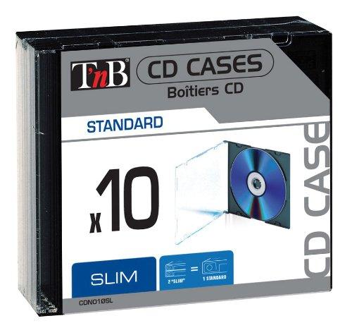 TNB Caixa CD Dupla Slim 10 Unidades Clear