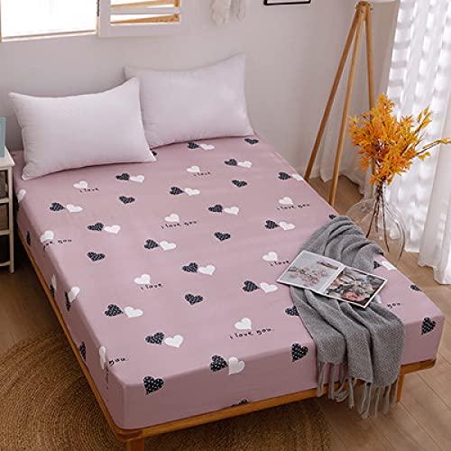 HAIBA Sábanas de cama de lujo de 150 x 200 cm de profundidad, algodón orgánico extra profundo, sábana bajera de tamaño super king equivalente con falda totalmente elástica