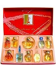 Charrier Parfums Caja Luxe Top Ten De 10 Eau De Parfum En Miniaturas Color Rojo 53 Ml