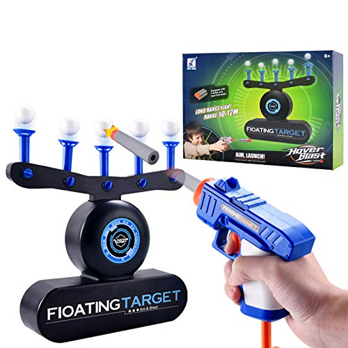 Floating Target Game, New Upgrade USB or AA Battery Powered Targets Shooting Game with 2 Blaster Guns, 10 Shooting Darts & 10 Floating Balls, Best Gifts for Boys and Girls