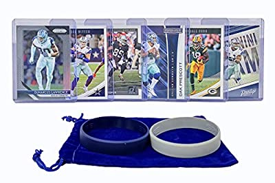 Dallas Cowboys Cards: Dak Prescott, Ezekiel Elliott, Amari Cooper, Emmitt Smith, Michael Gallup, Michael Irvin ASSORTED Football Stars & Legends Trading Card & Wristbands Bundle