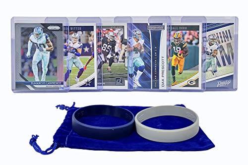 Dallas Cowboys Cards: Dak Prescott, Ezekiel Elliott, Jason Witten, Emmitt Smith, Randall Cobb, Amari Cooper ASSORTED Football Trading Card and Wristbands Bundle