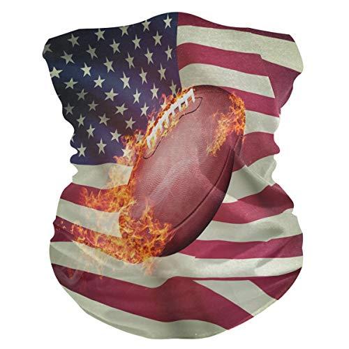 SunsetTrip American Football Flag Multifunktionstuch Bandana Schal Gesicht Staub UV Maske Hals Gaiter Stirnband Kopfbedeckung Halstuch für Sport Wandern Laufen Motorrad