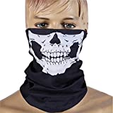 ZZoo Cotton Ghost Mask Skull Heads Warm Scarf Outdoor Cycling Dust Mask Halloween Cosplay Costume (White)