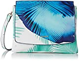 Desigual Blue Palms Amberes - Bolso bandolera para mujer, color turquesa