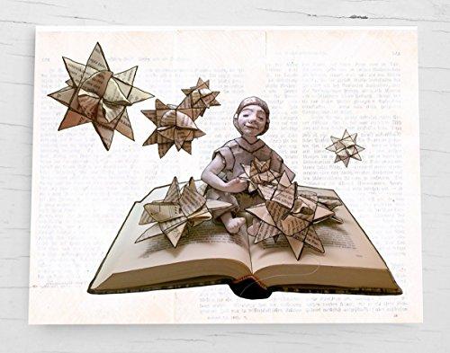 Weihnachtskarte, Klappkarte für Bücher liebende Leseratten - 6