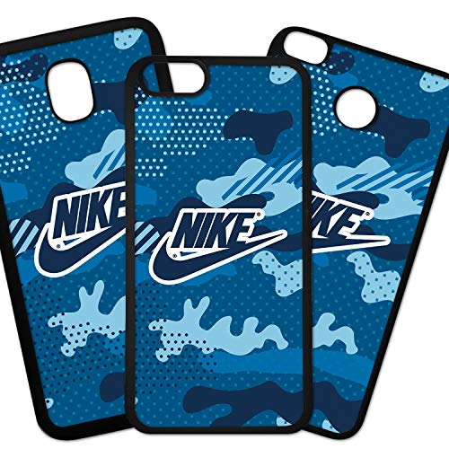Tuscaprichosonline Fundas De Moviles Carcasas De Moviles Funda Carcasa Compatible con Marca Deporte Nike Logo sobre Fondo Camuflaje Azul
