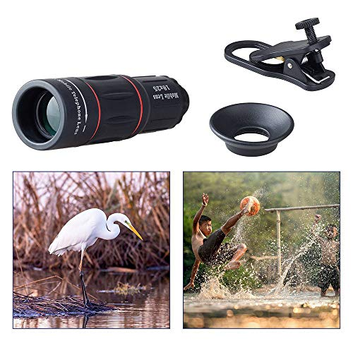 Great Price! 18X25 Zoom Spotting Telescope Scope with Tripod and Phone Adapter, Waterproof and Fog-Proof HD Portable Monocular Telescope for Bird Watching Scenery Hunting