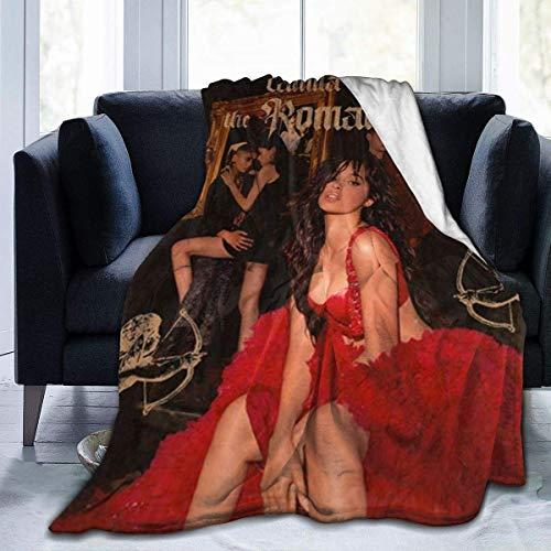 L.Fenn Manta Mantas Suaves y cálidas para Ropa de Cama Camila Cabello 2 para sofá Cama Sofá Decoración para el hogar Etc 50 * 60inch
