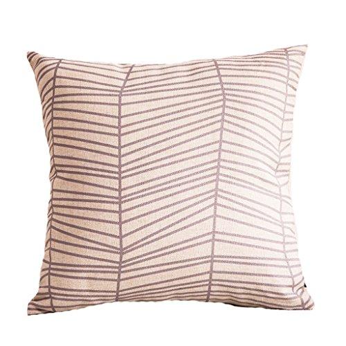 Taille confortable oreiller Coussin minimaliste Dossier en coton et lin Bureau chaise Dossier 45*45cm