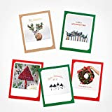 Pickmotion - Juego de 6 tarjetas de felicitación con fotos de Polaroid con sobre de Navidad, tarjetas de felicitación de Navidad premium, tarjetas plegables hechas a mano