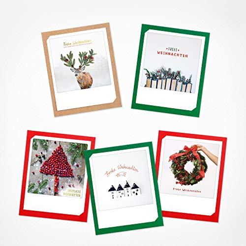 Pickmotion - Juego de 6 tarjetas de felicitación con fotos de Polaroid...