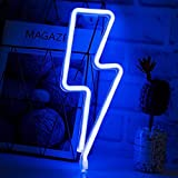 Luz de NeóN Led Azul,Hogar,Oficina,Dormitorio,Fiesta,Navidad,Luces de Regalo Del DíA de San ValentíN Luces de Neón Con Carga Usb/Pilas(Azul)