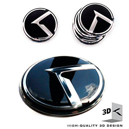 3d K Logo Emblems 4EA Set Wheel Center Caps Kia Rio, Forte, Forte Koup, Optima, Sportage, Sorento all Years