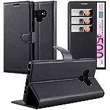 Cadorabo Hülle für Samsung Galaxy Note 9 in Phantom SCHWARZ - Handyhülle mit Magnetverschluss, Standfunktion & Kartenfach - Hülle Cover Schutzhülle Etui Tasche Book Klapp Style