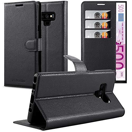 Cadorabo Funda Libro para Samsung Galaxy Note 9 en Negro Fantasma - Cubierta Proteccíon con Cierre Magnético, Tarjetero y Función de Suporte - Etui Case Cover Carcasa