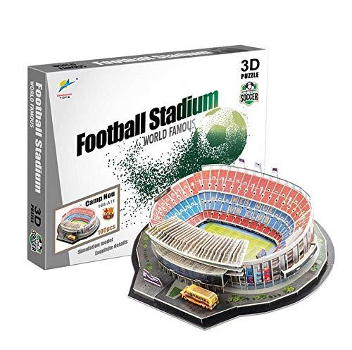 asdfgh 3D Puzzle Stadium Puzzles 3D Estadio Fútbol DIY Puzzle Estadio NOU Camp (Spain) 3D Model Puzzle Unisex.Regalos Creativos para Niños, Jóvenes Y Adultos