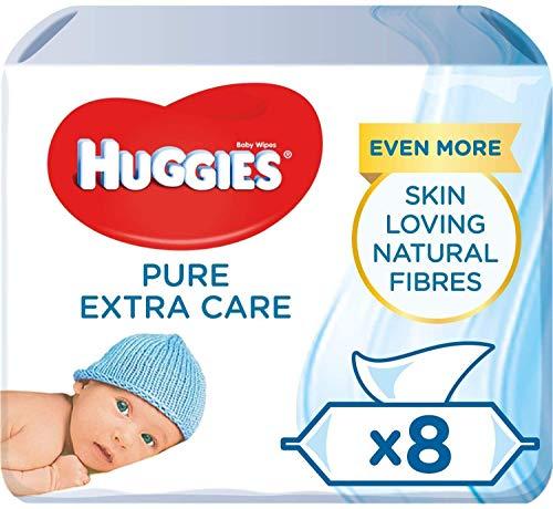 Huggies Pure Extra Care, sensitive Baby-Feuchttücher, 99% Wasser, 8 x je 56 Tücher, Großpackung