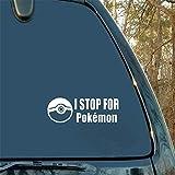tyande Car Decal Car Sticker Pokemon Go Team I Stop for Pokemon Decal Car Truck Window Sticker for Car Laptop Window Sticker