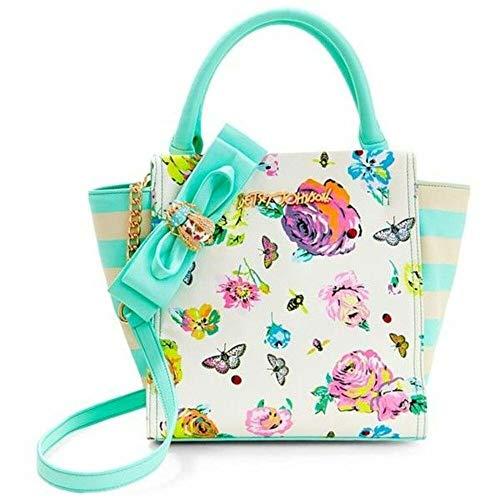 Betsey Johnson Bow Lock Tote Handbag Womens Style : Bm19110