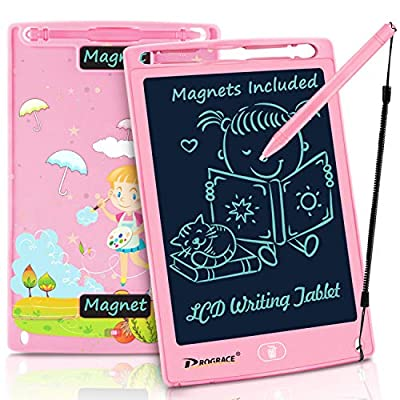 "PROGRACE LCD Writing Tablet for Kids Learning Writing Board Magnetic Erase LCD Writing Pad Smart Doodle Drawing Board for Home School Office Portable Electronic Digital Handwriting Pad 8.5"" from PROGRACE"
