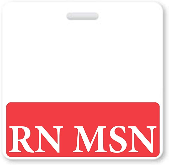 Spill /& Tear Proof Cards Blue 2 Sided USA Printed Role Identifier Tag Backer by Specialist ID Heavy Duty Vertical Badge Buddies for Masters of Science in Nursing Degree RN MSN Badge Buddy