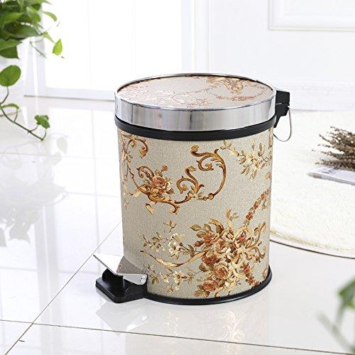 fuckluy Bacs à ordures extérieurs Accueil Continental-Pied Chambre Cuisine Toilettes Grande Corbeille 12L,BB avec Couvercle