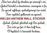 FSSS Ltd Hymne National du Pays de Galles Sticker Mural Rugby Gram Slam Triple Couronne vainqueurs Cadeau, Vinyle Auto-adhésif, 150x108cm