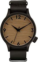 YOUMORE Men's Wooden Watches Chronograph Analogue Watch Bracelet Men Wood Vintage Adjustable Strap Watch with Wood Grain Casual Wristwatch for Men