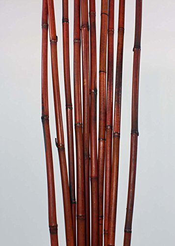 Green Floral Crafts - 3.5 Foot Decorative Bamboo Poles Perfect for Floor Vases, Plant Stakes, and Home Or Office Decorations (Mahogany Brown, 10 Pack)