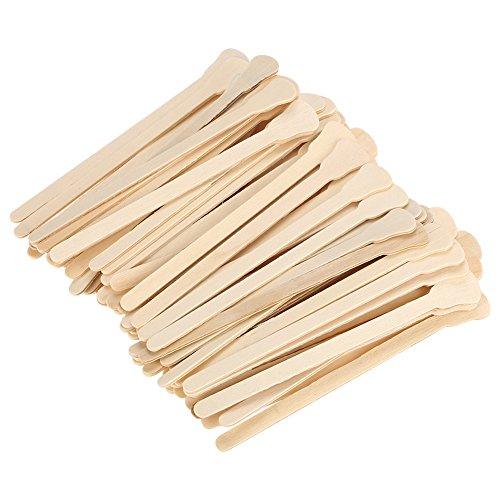 Espátula de cera de madera de 100 piezas, varillas aplicadoras de cera para depilación y piel suave, varillas de cera desechables para crema depilatoria