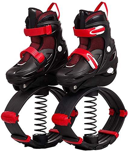 CNMGM Jump-Schuhe Für Erwachsene Kinder, Anti-Gravity-Bounce-Boot-Springstiefel, Fitness-Übung Verlieren Gewichtsschuhe, Indoor & Outdoor-Gebrauch,Rot,S
