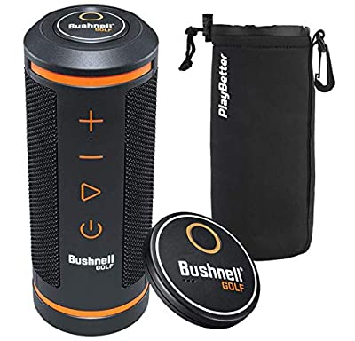 Bushnell Wingman Golf GPS Speaker with PlayBetter Protective Neoprene Pouch | Music & Audible GPS Distances | Score Tracking, 3D Flyovers & 36,000+ Courses | with PlayBetter Protective Sleeve | 361910