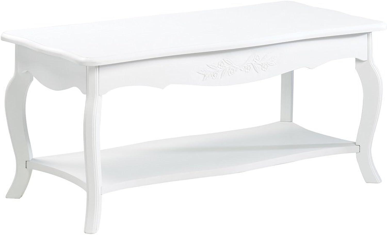Koehler Home Decor 13226 37  White Floral Elegant Coffee Table