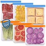 Dishwasher Safe Reusable Gallon Bags, 6 Pack Reusable Food Bags Extra Thick One Gallon Bags Leakproof Reusable Storage Bags for Meal Prep Fruit Cereal Sandwich Snack Travel Items Home Organization