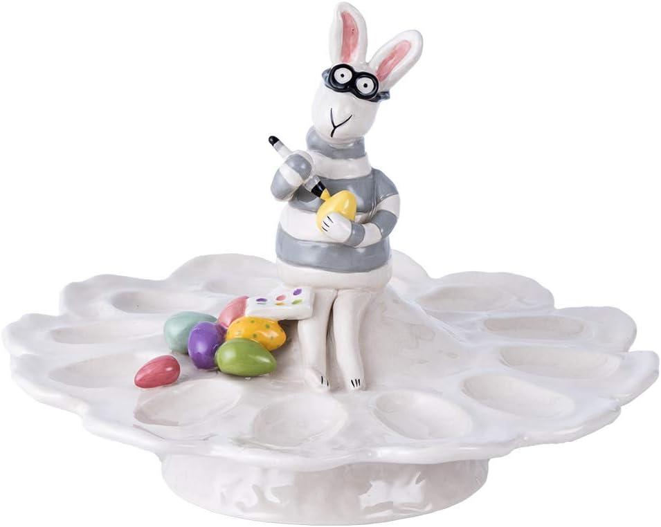 Blue Sky ご注文で当日配送 Ceramic Bunny Eyeglass Tray Multi-Color 公式 Egg
