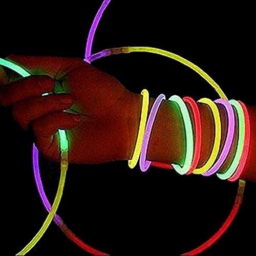 Leuchtstangen für Armbänder, Halsketten, ..., 15 Stück, für Geburtstag oder Kirmes