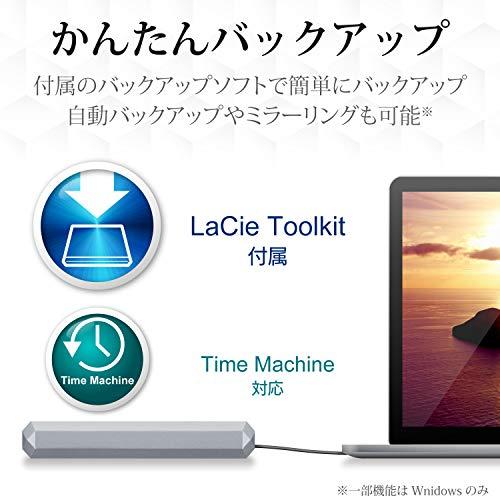 LaCieHDDポータブルハードディスク5TBMobileDriveUSBタイプC2年間保証STHG5000402