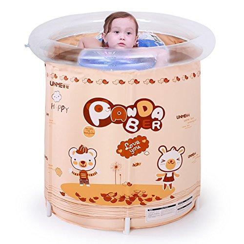 KTYX Soporte Piscina casa Grande bebé Aislamiento natación Cubo (Color : Brown)