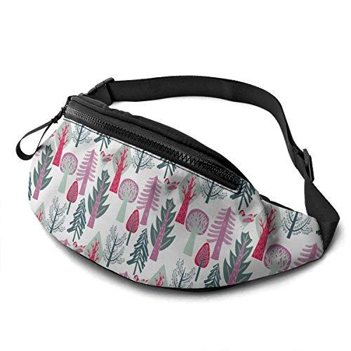 AOOEDM Flat Forest wallpape Running Belt Fanny Pack Fashion Waist Pouch Bag for Men Women Sports Hiking
