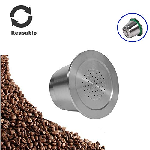 Roestvrij stalen navulbare herbruikbare koffie capsules Cup koffie druppelaar met lepel voor Nespresso Machines