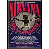 mohanshop Affiches De Musique Vintage Kurt Cobain Nirvana Frontman Rock Vintage Affiche Rétro Toile Bar Peinture Décorative Mur Art A17 (50X60Cm) sans Cadre
